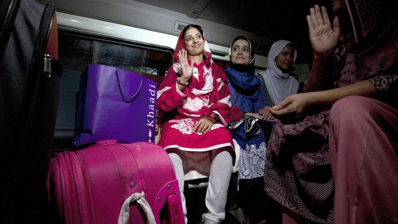 "The name ""Geeta"" was given to her by the Edhi charity which cared for her [Shakil Adil/AP]"