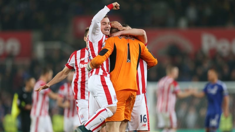 Stoke City held on for the win despite playing with 10 men in extra time [Reuters]