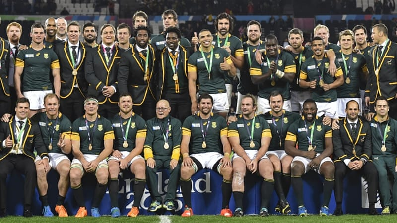 The Springboks dominated the game from the outset, finishing with two tries in the match [Reuters]