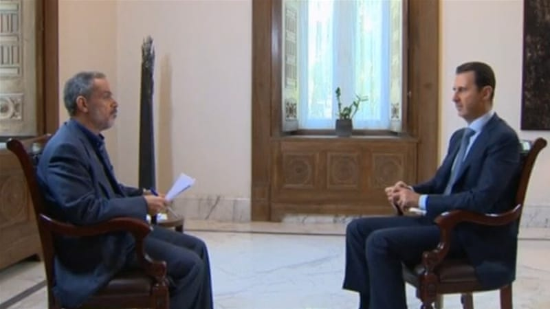 Assad tells Khabar Iranian TV that the chances of success for his coalition with Russia 'are great and not insignificant' [Reuters]