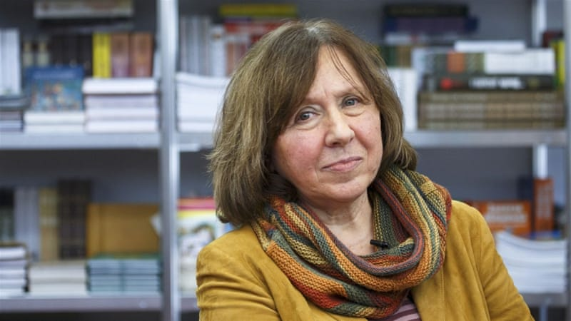 Belarussian Svetlana Alexievich, who has just won the 2015 Nobel Literature Prize, said the EU should be wary of Lukashenko [Reuters]