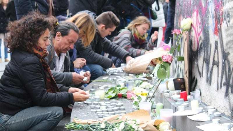 French President Francois Hollande declared three days of mourning after the deadly attacks in Paris [Yann Schreiber/Al Jazeera]