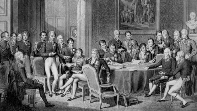 After the Napoleonic wars, the so-called Congress of Vienna in 1815 brought together allies and enemies to create a successful balance of power in Europe [Getty]