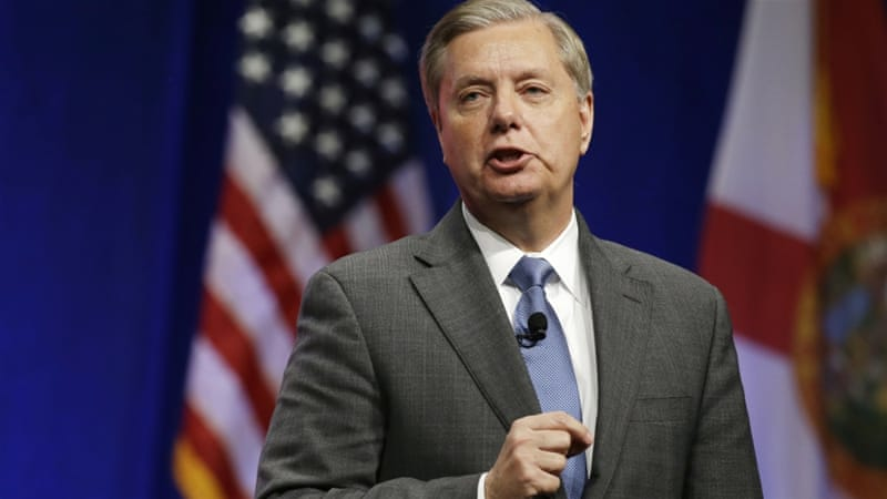 Senator Graham has proposed legislation authorising ground troop deployments to combat ISIL [AP]