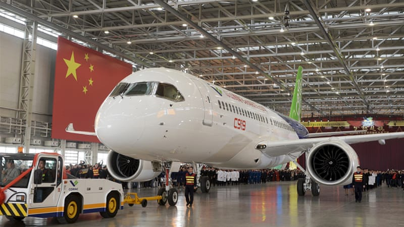 Comac says it has already received orders from 21 customers for a total of 517 aircraft [China Daily/Reuters]