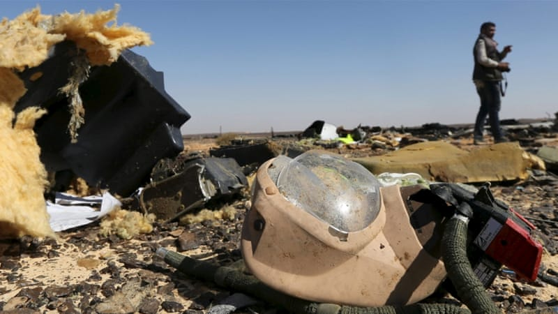 All 224 people on board the Russian passenger jet that crashed in Egypt on Saturday have died [Mohamed Abd El Ghany/Reuters]