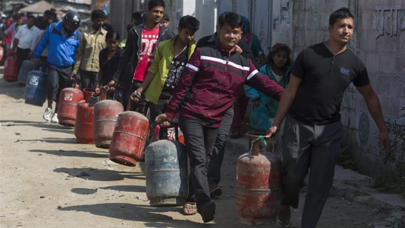 Nepal has faced a fuel crisis for more than a month since protesters  prevented supply trucks from entering from India [EPA]