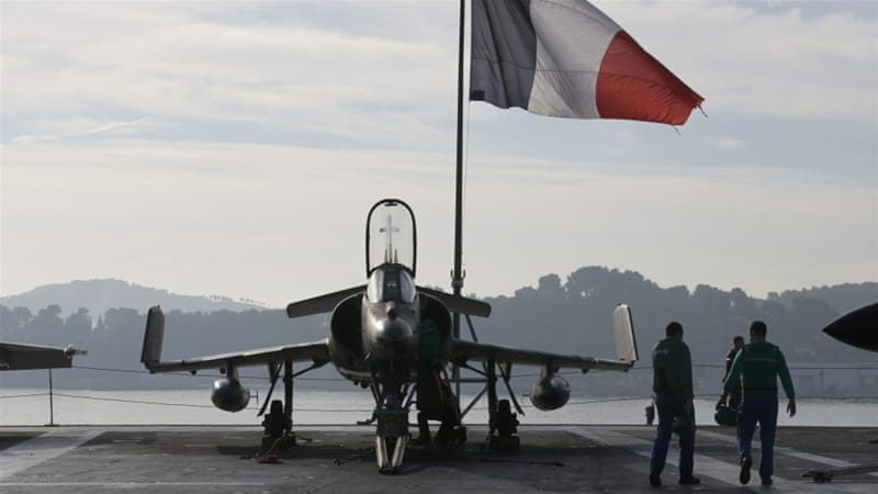 French jets will be able to launch air strikes on ISIL targets in Syria from the carrier [Jean-Paul Pelissier/Reuters]