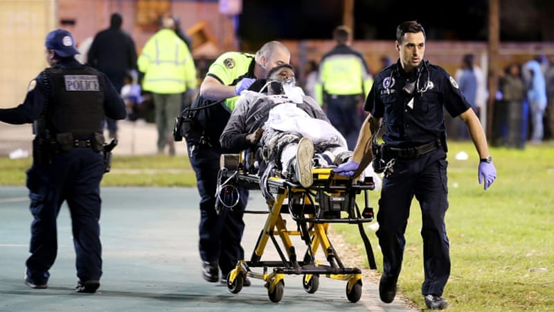 There have been no deaths from the shooting yet, an NOPD officer told the Times-Picayune newspaper [AP]