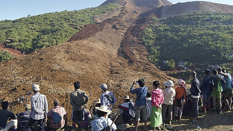 Activists say the jade mining industry has also driven armed conflict in Kachin and Shan states [AP]
