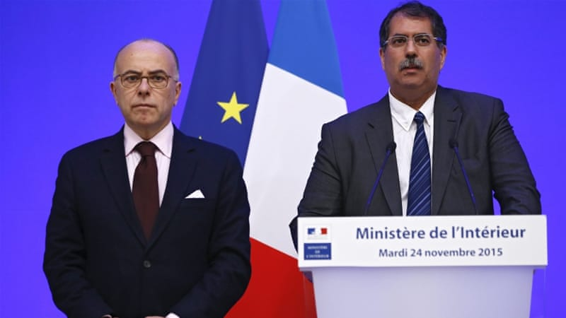 Kbibech, right, called for licences for imams after meeting Cazeneuve in Paris on Tuesday [EPA]