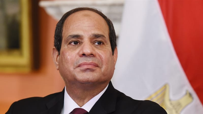 Egyptian opposition groups and human rights campaigners have called for the investigation and arrest of Sisi [EPA/Andy Rain]
