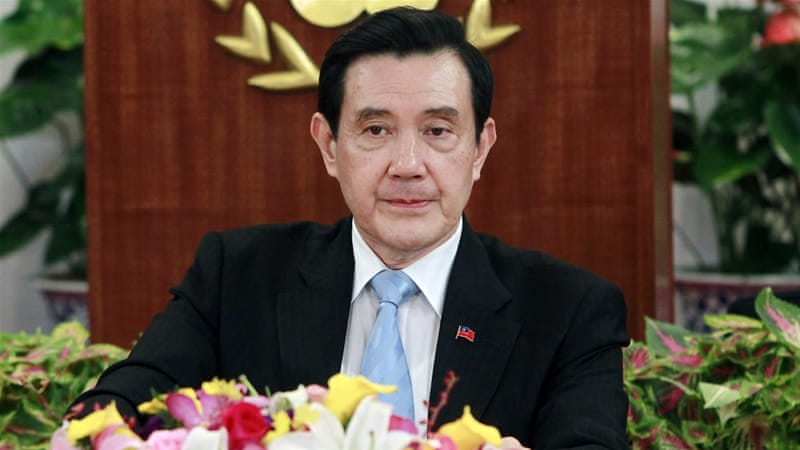 Taiwan's President Ma Ying-jeou addresses the media on Thursday [Chiang Ying-ying/AP]