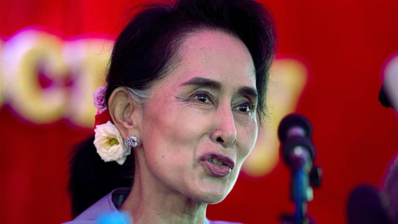 Under the current constitution, Suu Kyi is ineligible to lead the country [AP]