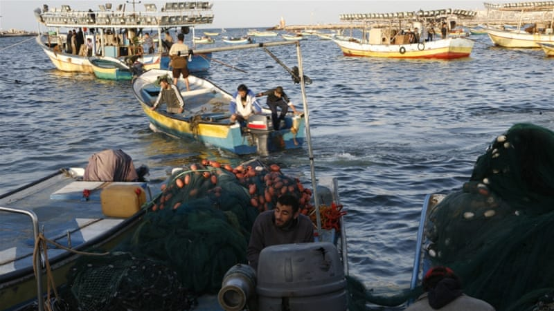 Palestinian fishermen in the Gaza Strip have been shot at regularly by both Israeli and Egyptian naval forces [File: Ezz Zanoun/Al Jazeera]