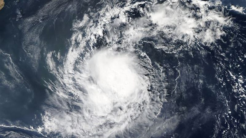 Cyclone Megh could potentially bring as much, if not more, rain to Socotra than Cyclone Chapala did a week ago [Courtesy: NASA]