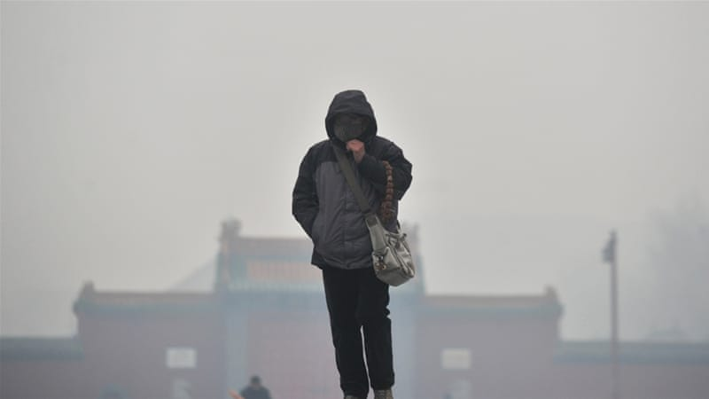 Thick smog not cleared by snow, Shenyang, Liaoning province, China [Getty Images]