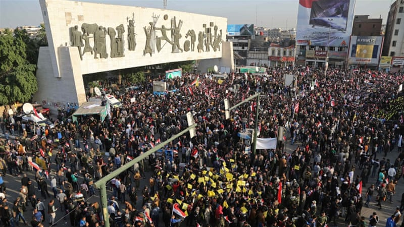 Demonstrators said that Turkey's actions are a violation of Iraq's sovereignty and independence [AP]