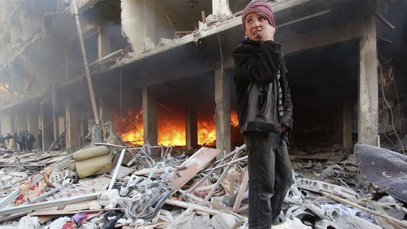 More than 250,000 people have died since Syria's conflict erupted in March 2011 [Mohammed Badra/Reuters]