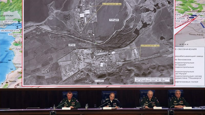 Russian officials have released satellite images which they claim show that Turkey buys oil from ISIL [EPA]