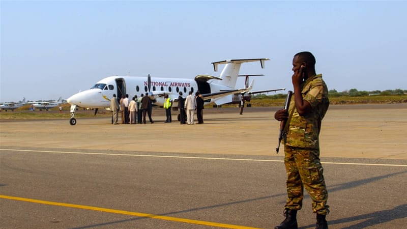 The rebel delegation was welcomed by South Sudan's government [Caitlin McGee/Al Jazeera]