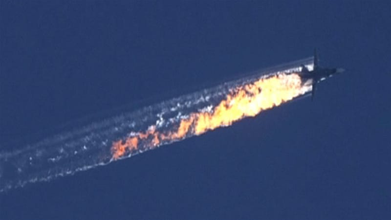 Turkey says the Russian Sukhoi SU-24 jet was shot down last November for airspace violation [EPA]