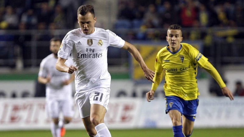 Cheryshev, left, scored the opening goal for Real Madrid [EPA]