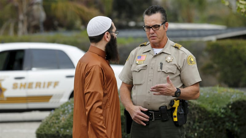 Muslims in Southern California say they were devastated to find out the San Bernardino suspects shared their faith [Mike Blake/Reuters]