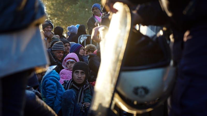 An estimated 3,000 asylum seekers are stuck at Macedonia's border with Greece [Sorin Furcoi/Al Jazeera]