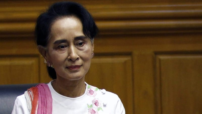 Aung San Suu Kyi has vowed publicly to rule 'from above the presidency' [File: Nyein Chan Naing/EPA]