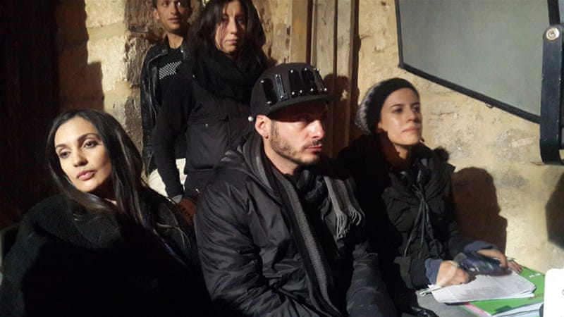 Director Lauand Omar, pictured on the set of Curse of Mesopotamia, is hoping to secure a distribution deal [Photo courtesy of Lauand Omar]