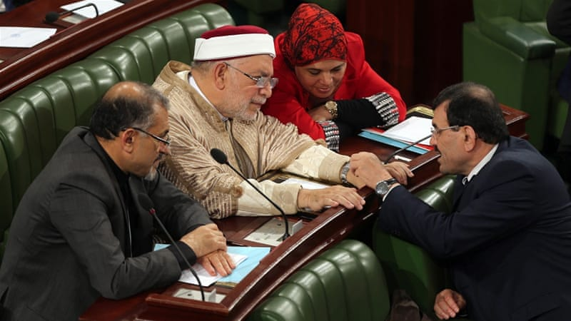 The secularist Nidaa Tounes party won 85 of the parliament seats, followed by Ennahda with 69 seats [EPA]