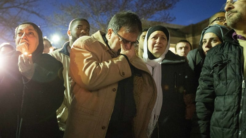 The victims' families are adamant the three were targeted because they were Muslims [Reuters]