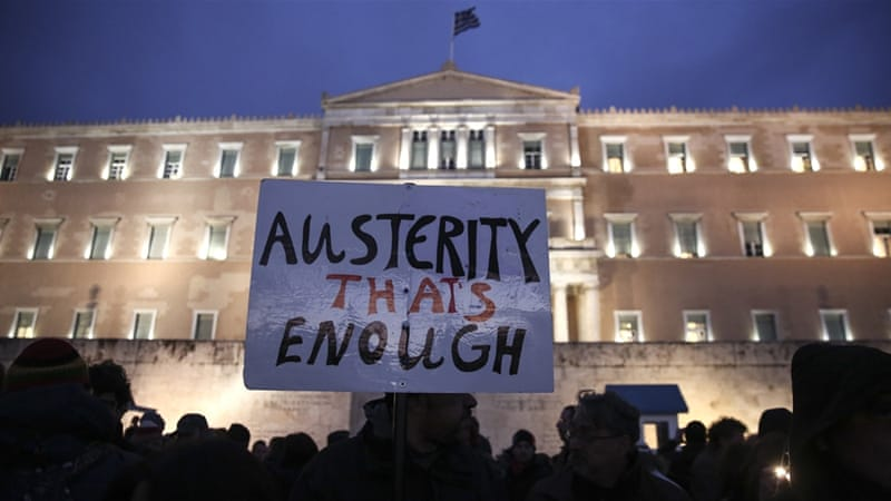 Thousands of Greeks have come out in support of the government's bid to re-negotiate the bailout [AP]