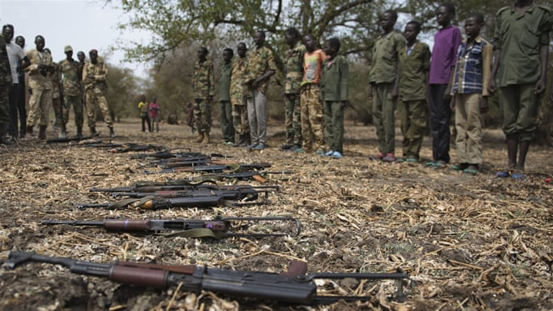 UNICEF has negotiated the release of 3,000 child soldiers from a rebel group in the Pibor region of Jonglei [AFP]