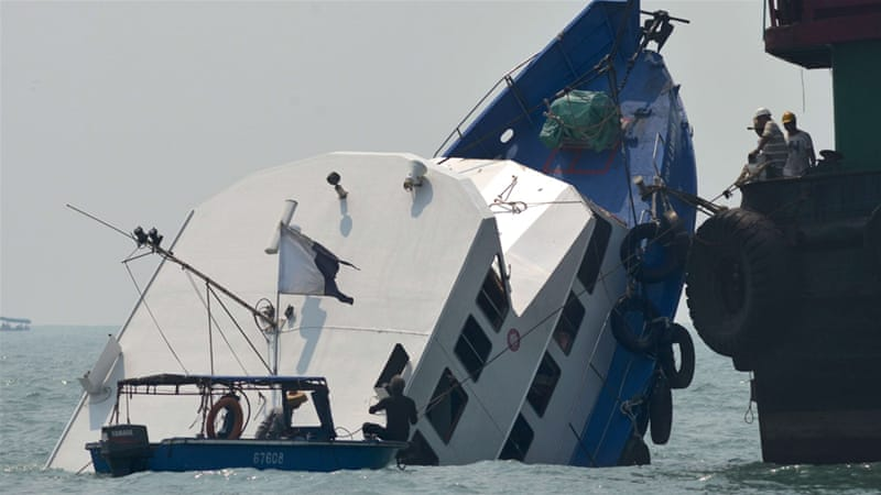 Leisure boat Lamma IV, pictured during the rescue operation, had 120 people on board when the collision occurred [File: AFP]