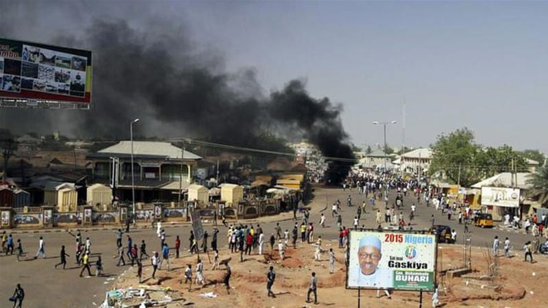 An explosion took place in Gombe on Sunday, a day ahead of President Goodluck Jonathan's visit to the state [Reuters]
