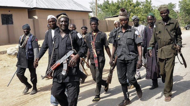Several Nigerian paramilitary groups are assisting the Nigerian military in fighting against Boko Haram [EPA]