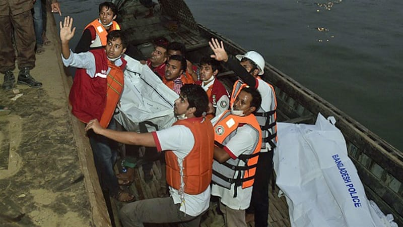 Survivors said the twin-deck MV Mostofa was carrying over 150 passenger when it capsized [AFP]
