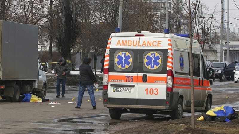 Ukrainian officials accuse Russia of instructing Ukrainian citizens to commit the deadly blast [EPA]