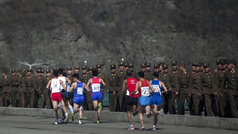 North Korea allowed foreign runners to race for the first time in 2014 [AP]