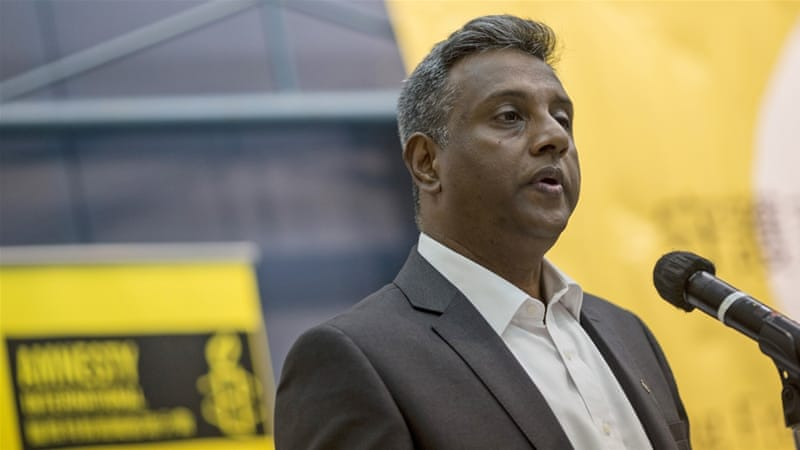 Amnesty's secretary-general Salil Shetty condemned the global response to conflict and abuses by armed groups [EPA]