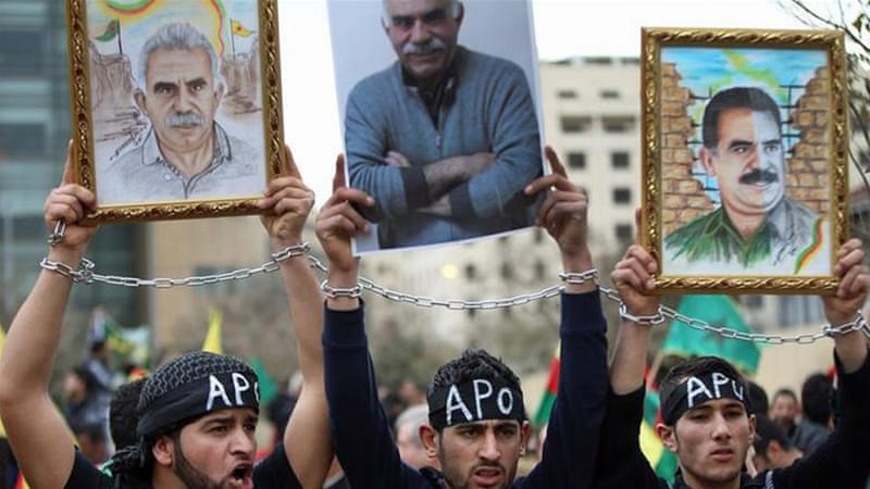 Ocalan, the founder of the PKK, was captured in Kenya after being forced to leave a Greek diplomatic mission there in 1999 [AP]