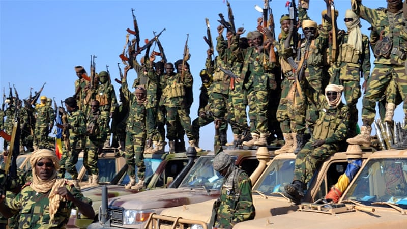 Chadian troops helping to fight boko haram
