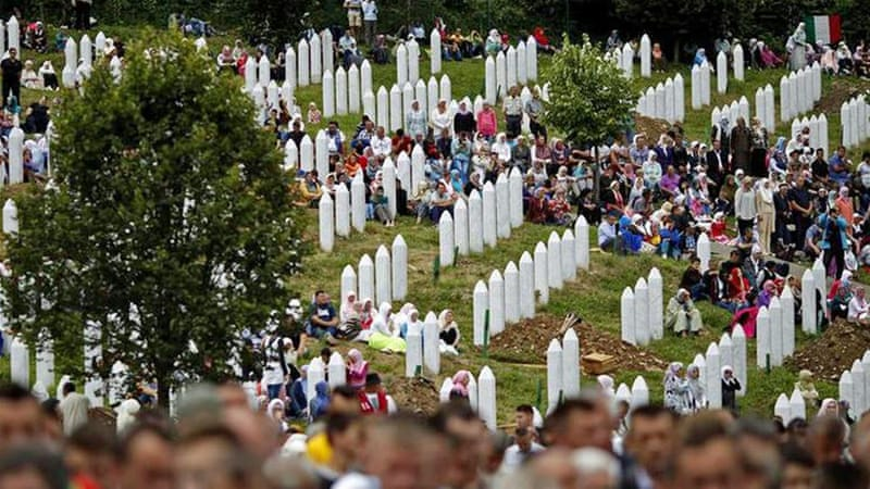 A mass funeral was held in July 2014 in Srebrenica for 175 newly identified victims from the 1995 Srebrenica massacre [Reuters]
