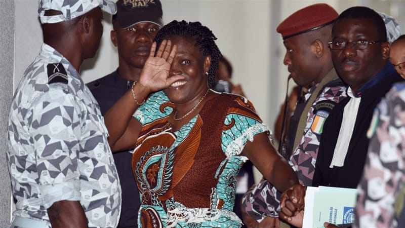 The sentence handed down to Simone Gbagbo by the six-member jury was longer than the 10 years requested by prosecutors [AFP]