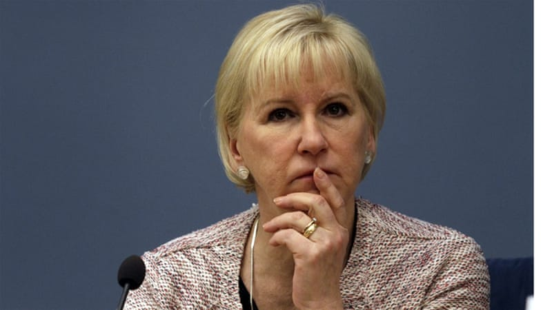 Sweden's foreign minister Margot Wallstrom said she was barred from giving a speech to the Arab League this week [EPA]