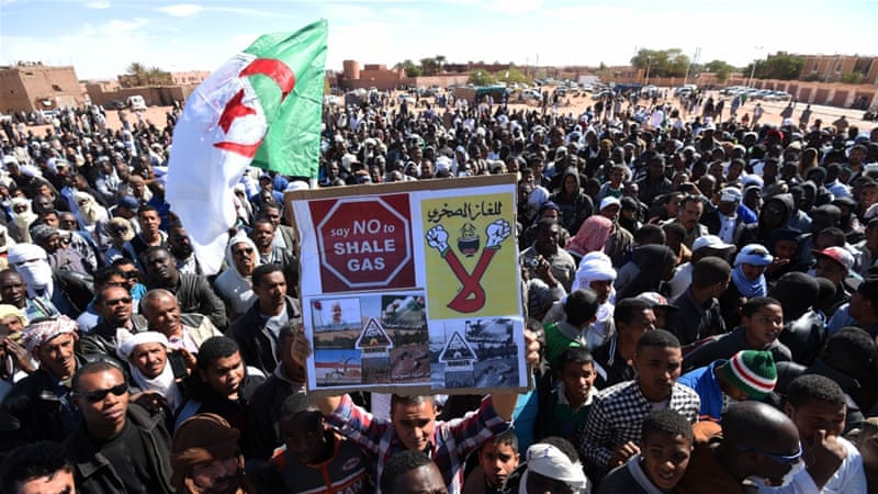 Algerian demonstrators stage a sit-in on March 5 at Soumoud Square [Getty Images]