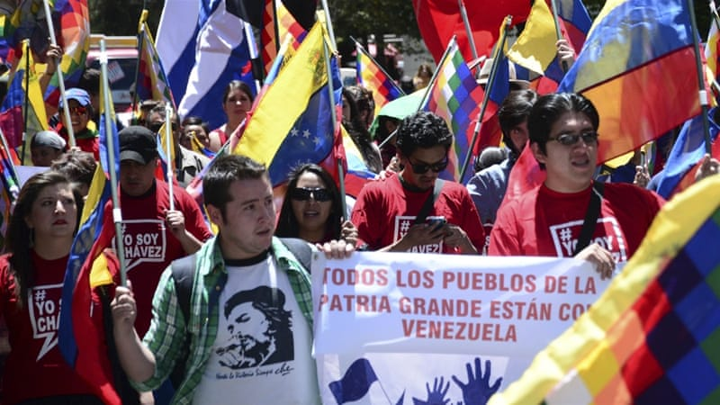 Several hundred people turned out for the rally on Thursday in central Caracas, the capital [Reuters]