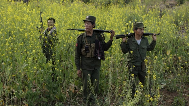 Myanmar's MNDAA rebel group was formed from remnants of the Communist Party of Burma, a powerful China-backed group [Reuters]